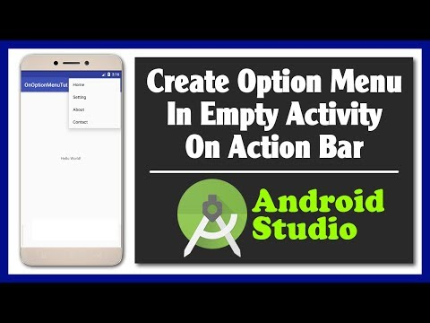 Create Option Menu In Empty Activity On Android Studio   Action Bar Menu
