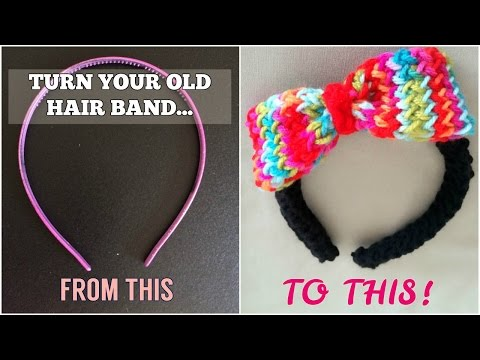 How to loom knit a hair band with bow