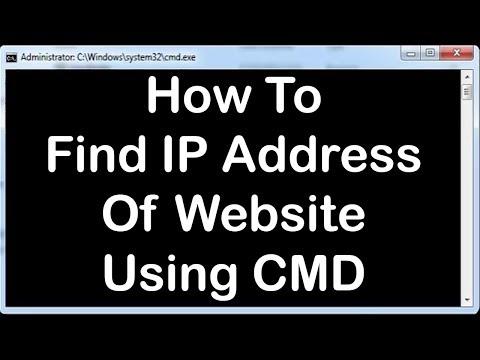 Windows Command Line Tutorials - 11 - HOW TO FIND IP ADDRESS OF WEBSITE USING CMD