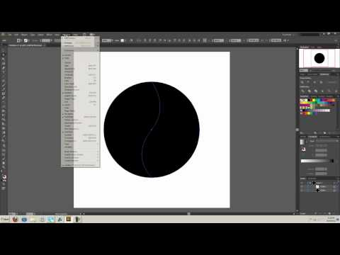 How To Split Objects Using Pen Tool | Illustrator Tutorial | Making Yin Yang Symbol