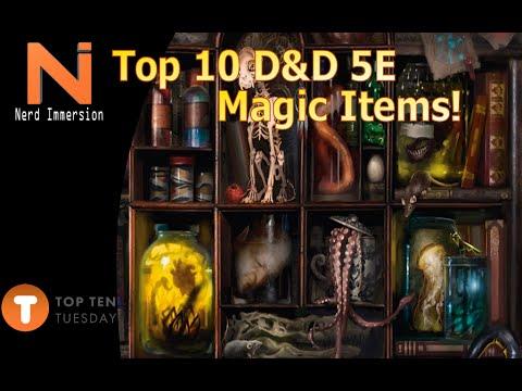 Top 10 D&D 5e Magic Items-Top 10 Tuesday | Nerd Immersion