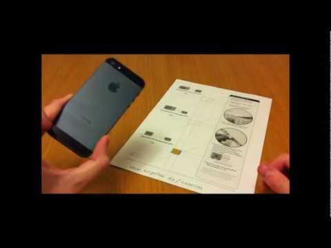How to turn a Micro SIM into a Nano SIM for iPhone 5 / 5S, cut Micro SIM