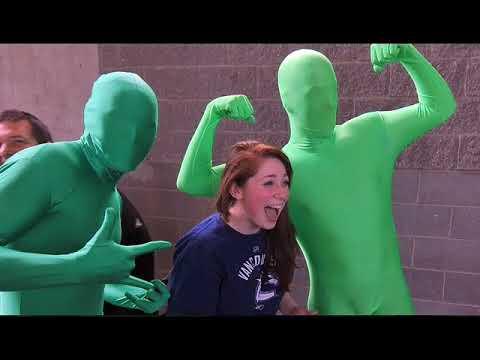 Fan loves Vancouver's Green Men