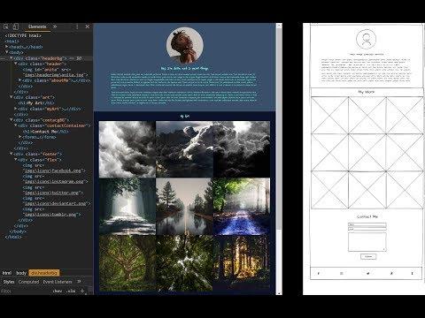 Building a Basic Single Page Artist Website