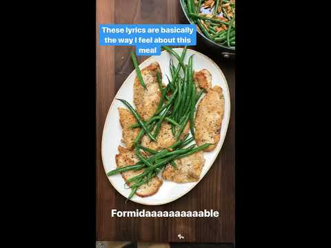 California Garlic Chicken, Green Bean Almondine