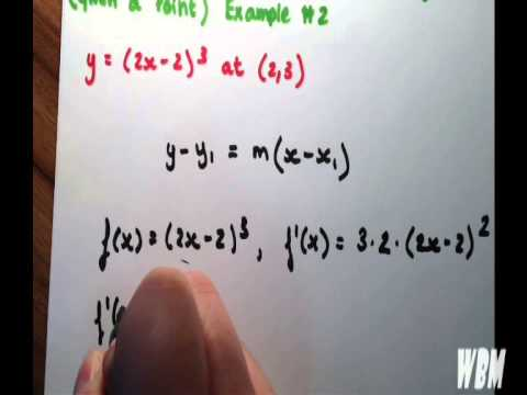 Find The Equation of a Tangent Line (Given a Point) Example #2