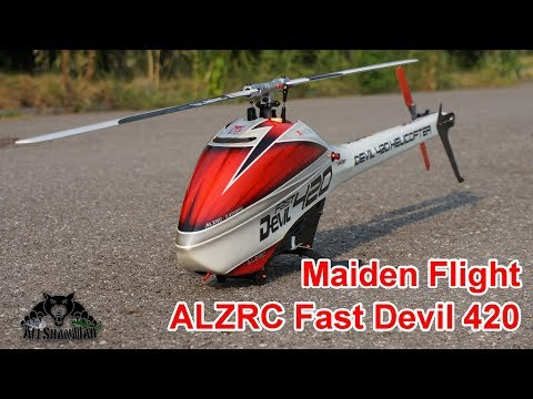 ALZRC Fast Devil 420 Electric 3D RC Helicopter Maiden Flight