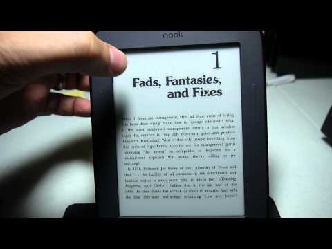 Kindle on the Nook 2nd Edition Touch (E-Ink)