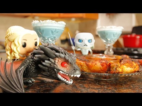 Game of Thrones Dragon Fire Chicken & Blue Winter Cocktail | Made to Order | Chef Zee Cooks