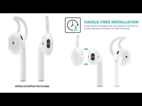 EarBuddyz 2.0 Apple Airpods and EarPods Covers and Hooks Attachment for iPhone