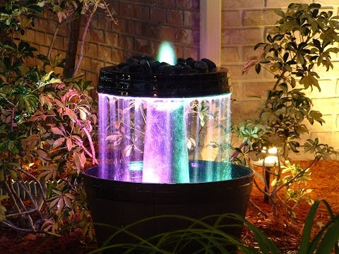 Bird Bath Converted To Water Fountain Waterfall Water Feature