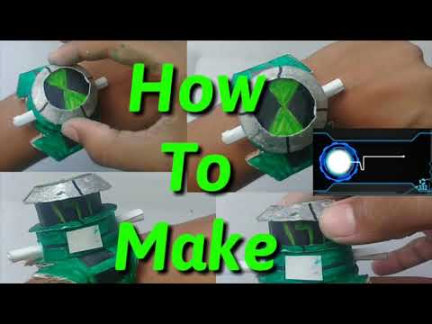 How to make Ben10 alien force Omnitrix with popup dial