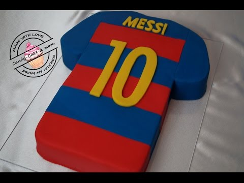 FC Barcelona Messi Trikot - Torte I Trikottorte I  Fussballtrikot I Fondant Cake I Motivtorte