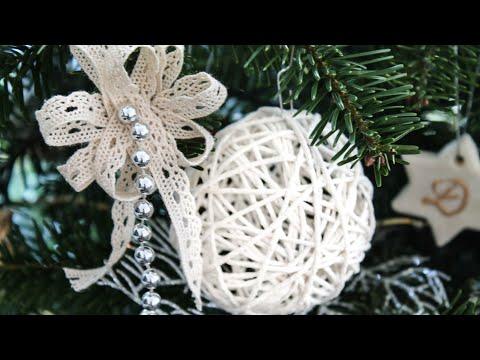 Yarn balls for Christmas | DIY Rustic Christmas Decorations