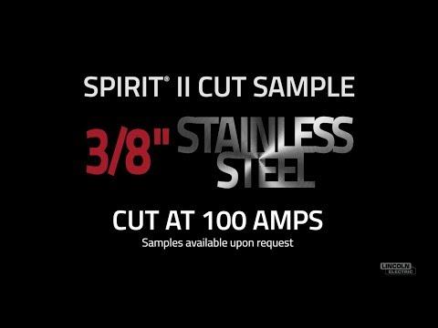 "Spirit® II Plasma Cut Sample, 3/8"" Stainless Steel Cut at 100 AMPS"