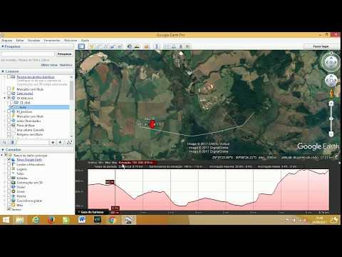 Fazer perfil de elevação altitude com o Google Earth