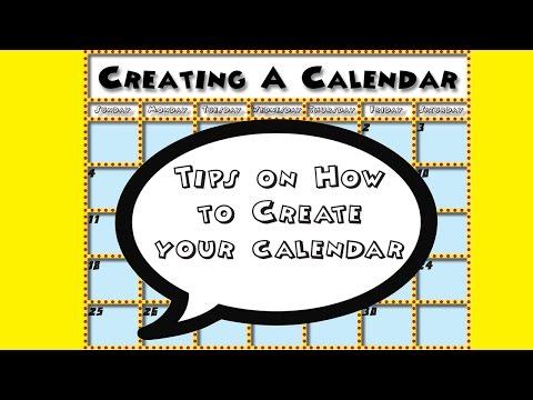 Creating Your Calendar