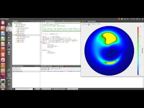 qwtpolar plot example in qt ubuntu.