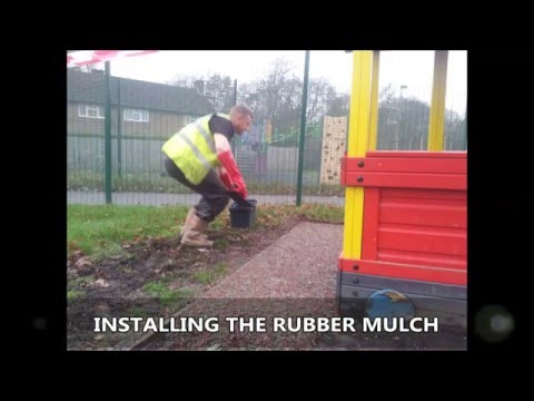Rubber Mulch Safety Surfacing Installing Specialists Derbyshire