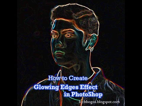 How to Create Glowing Edges Effect in PhotoShop Tutorial
