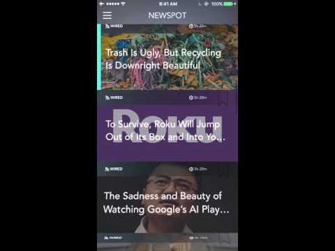 Newspot - Your Wonderful News & RSS Feed Reader for Apple Watch and iPhone