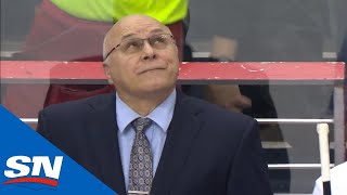Download Barry Trotz Gets Standing Ovation From Capitals Fans In Return To Washington Video