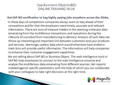 Sap Business Objects(BO) ONLINE TRAINING IN UK,CANADA