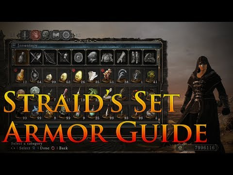 Dark Souls 2: Black Set Armor Guide | Straid of Olaphis' Armor Set