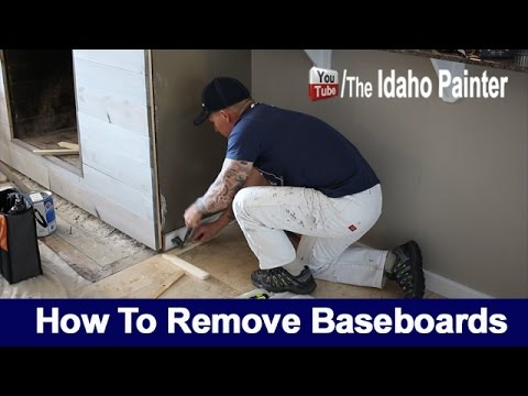 How To Remove Baseboards.  TIPS REMOVING SKIRTING.