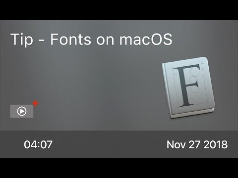 SCOM0790 - Tip - Fonts on macOS
