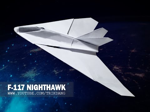 PAPER JET FIGHTER - How to make a paper airplane that FLIES | Nighthawk F-117A