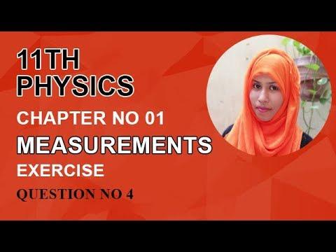 FSC Physics book 1, Ch 1, Exercise Question, Question no 4 -Inter Part 1 Physics