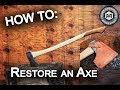 How To: Restoring An Axe - Two Tone Handle/Leather Sheath