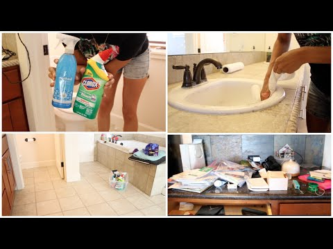 POWER HOUR CLEANING | SUPER DIRTY BATHROOM + DECLUTTER