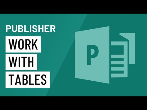 Publisher 2010: Working with Tables