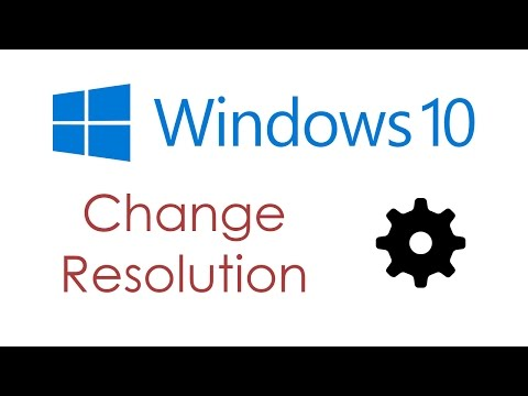 Change monitor resolution in Windows 10