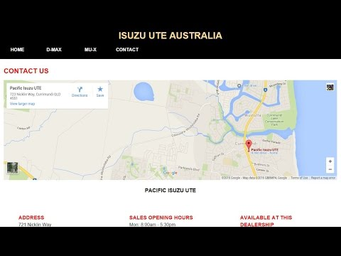 Part 3/3 - Make an Isuzu Website Using HTML/CSS