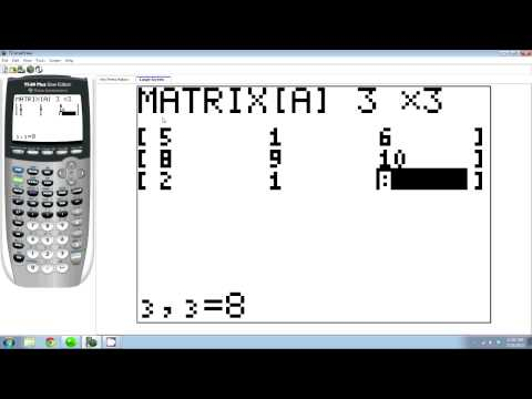 How to Find the Inverse of a Matrix on the TI83 or TI84 Calculator