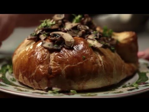 Baked Brie with Wild Mushrooms