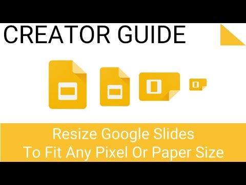 Resize Google Slides for Paper Size to Portrait or Landscape