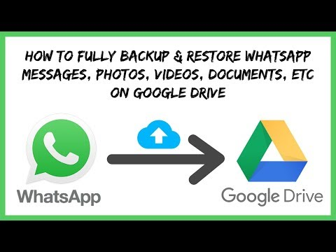 Never Lose Your Whatsapp Chats - How to Backup & Restore Whatsapp Messages to Google Drive in Hindi