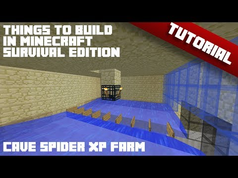 Things To Build In Minecraft - Survival Edition [Cave Spider XP Farm 1.8]