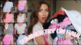 HUGE SPRING & SUMMER TRY ON HAUL | BRANDY MELVILLE & URBAN OUTFITTERS