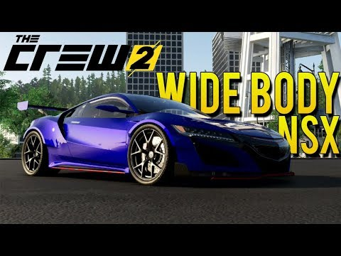 WIDE BODY ACURA NSX FULL CUSTOMIZATION! | The Crew 2