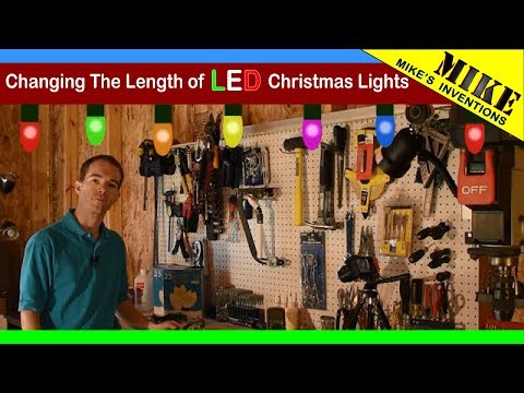 Changing The Length of LED Christmas Lights. Don't Do This!