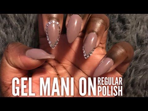 Gel Mani with REGULAR Nail Polish