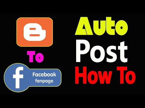How to share Blogger Post in Facebook Page Automatic Post || Blogger to Facebook Auto post