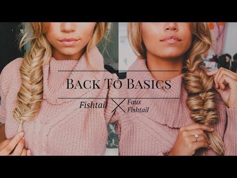 How To Create a Fishtail Braid vs a Faux Fishtail Braid | Ashley Bloomfield