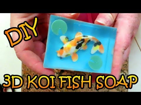 DIY HOW TO MAKE 3D KOI FISH SOAP - MELT AND POUR TUTORIAL