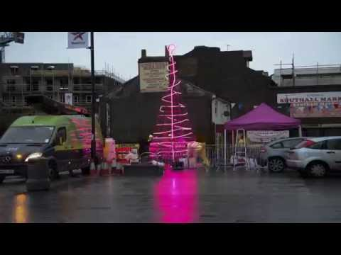 Southall plastic bottle Christmas tree